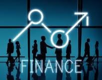 Concepto del negocio de la economía de las oportunidades del beneficio de la subida de las finanzas stock de ilustración