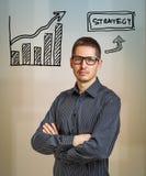 Concepto del negocio de la estrategia Fotos de archivo