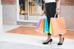 Concepto del negocio, de la forma de vida y de las compras Imágenes de archivo libres de regalías