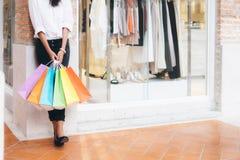 Concepto del negocio, de la forma de vida y de las compras Foto de archivo libre de regalías