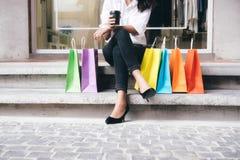 Concepto del negocio, de la forma de vida y de las compras Fotografía de archivo libre de regalías