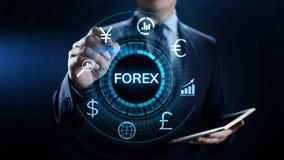 Concepto del negocio de la inversión de Internet del tipo de cambio de moneda de comercio de las divisas imagen de archivo libre de regalías
