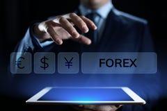 Concepto del negocio de la inversi?n de Internet del tipo de cambio de moneda de comercio de las divisas imágenes de archivo libres de regalías