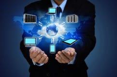 Concepto del negocio de la nube de Internet foto de archivo