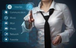 Concepto del negocio, de la tecnología, de Internet y del establecimiento de una red - negocio Imagenes de archivo