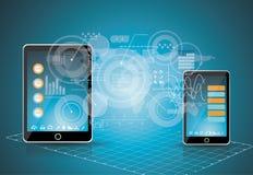 Concepto del negocio de la tecnología de los teléfonos móviles. Imagen de archivo