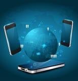 Concepto del negocio de la tecnología de los teléfonos móviles del vector ilustración del vector