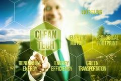 Concepto del negocio de la tecnología limpia Fotografía de archivo libre de regalías