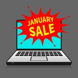 Concepto del negocio de la venta de enero ilustración del vector