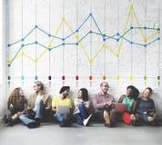 Concepto del negocio de las estadísticas de la contabilidad del informe de las finanzas fotos de archivo