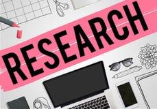 Concepto del negocio de las ideas del planeamiento del plan de la investigación Imagen de archivo