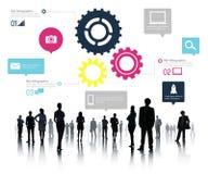 Concepto del negocio de Team Teamwork Cog Functionality Technology Fotografía de archivo libre de regalías