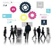 Concepto del negocio de Team Teamwork Cog Functionality Technology Fotos de archivo
