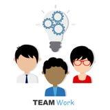 Concepto del negocio de trabajo en equipo Fotos de archivo