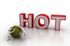 Concepto del negocio de venta caliente ilustración del vector