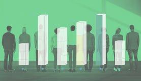 Concepto del negocio del análisis de las estadísticas del gráfico de barra Imagen de archivo