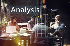 Concepto del negocio del análisis de las estadísticas del gráfico de barra imágenes de archivo libres de regalías