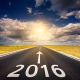 Concepto del negocio del camino por el Año Nuevo 2016 Imágenes de archivo libres de regalías