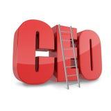 Concepto del negocio del CEO Fotos de archivo