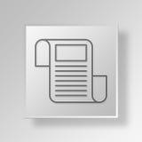 concepto del negocio del icono del periódico 3D stock de ilustración
