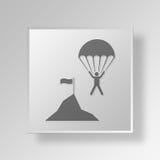 concepto del negocio del icono del riesgo de negocio 3D stock de ilustración