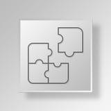 concepto del negocio del icono del rompecabezas 3D Fotografía de archivo