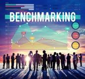 Concepto del negocio del mercado de acción de las finanzas de Benchmarketing Fotografía de archivo libre de regalías