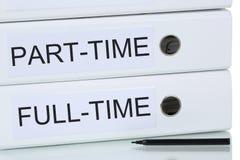 Concepto del negocio del trabajo a tiempo parcial y a tiempo completo Foto de archivo libre de regalías