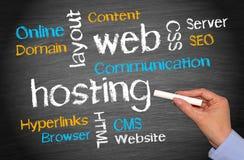 Concepto del negocio del web hosting imágenes de archivo libres de regalías