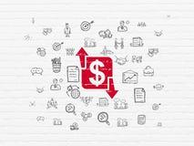 Concepto del negocio: Finanzas en fondo de la pared Foto de archivo
