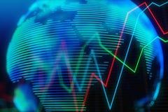 Concepto del negocio global y del mercado de acción ilustración del vector