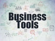 Concepto del negocio: Herramientas del negocio en el papel de Digitaces Fotos de archivo libres de regalías