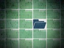 Concepto del negocio: icono azul de la carpeta en digital Fotos de archivo libres de regalías