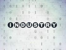 Concepto del negocio: Industria en el papel de Digitaces Imágenes de archivo libres de regalías