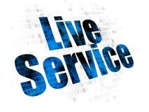 Concepto del negocio: Live Service en el fondo de Digitaces Foto de archivo libre de regalías