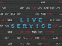 Concepto del negocio: Live Service en fondo de la pared Imágenes de archivo libres de regalías