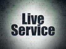 Concepto del negocio: Live Service en fondo del papel de datos de Digitaces Imágenes de archivo libres de regalías