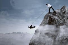 Concepto del negocio para superar adversidad imagen de archivo libre de regalías