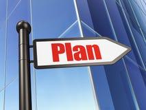 Concepto del negocio: plan de la muestra en fondo del edificio Imagen de archivo