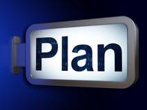 Concepto del negocio: Plan en fondo de la cartelera Imágenes de archivo libres de regalías