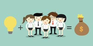 Concepto del negocio, sobre concepto del recurso humano libre illustration