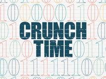 Concepto del negocio: Tiempo del crujido en fondo de la pared Fotos de archivo