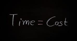 Concepto del negocio, time=cost Foto de archivo libre de regalías