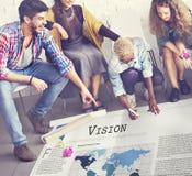 Concepto del objetivo de la motivación de la inspiración del valor de Vision foto de archivo libre de regalías