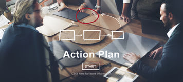 Concepto del objetivo de las táctica de Vision de la estrategia del planeamiento del plan de actuación Imagen de archivo