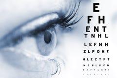 Concepto del oftalmólogo Imagen de archivo libre de regalías