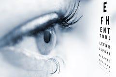 Concepto del oftalmólogo Fotografía de archivo libre de regalías