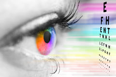 Concepto del oftalmólogo Fotos de archivo libres de regalías