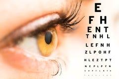 Concepto del oftalmólogo Fotografía de archivo