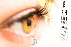 Concepto del oftalmólogo Imagen de archivo